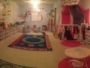 PANORAMIC SHOT OF DAYCARE ROOM
